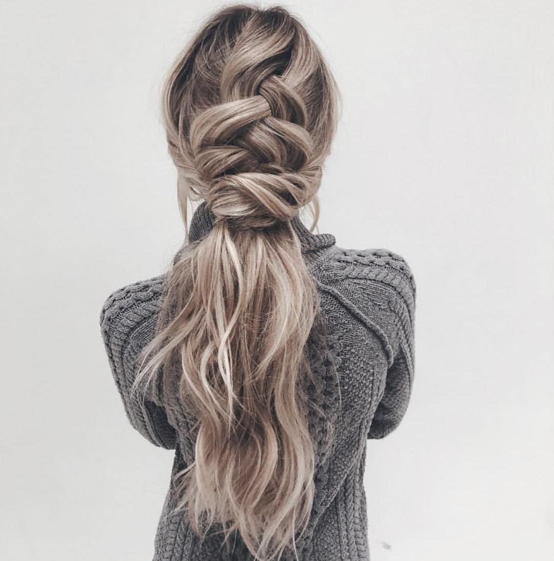 french braid | twist | loose | long hairstyle | highlight ...
