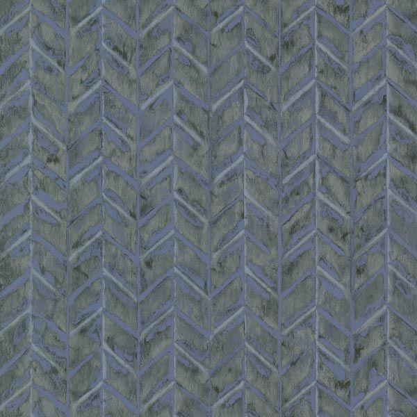 HZN43065 Blue Herringbone Texture - Foothills - Horizon Wallpaper by Warner Studios