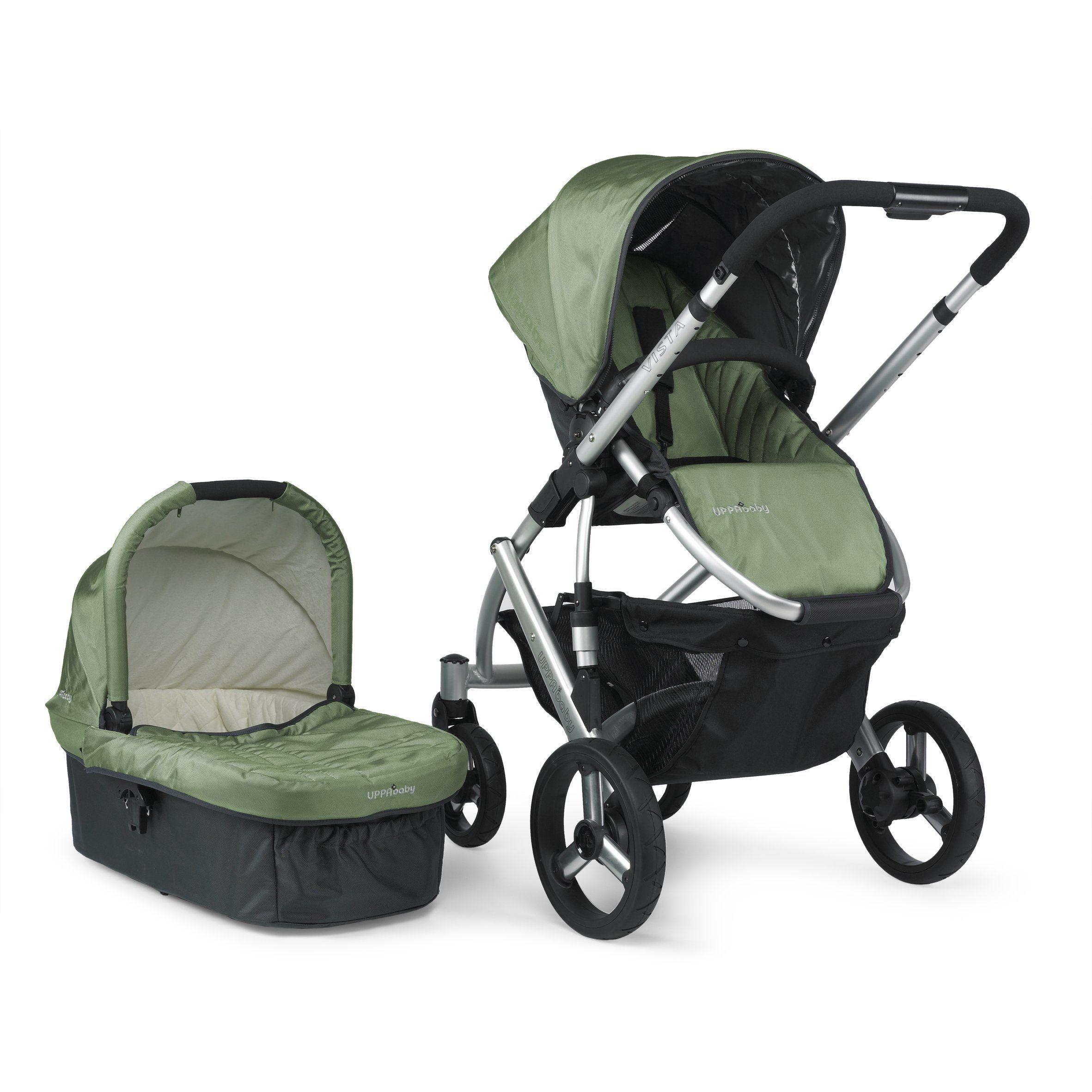 UPPAbaby Vista Stroller, Green Carlin Vista stroller