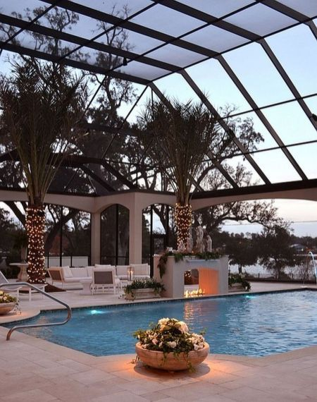25 Screened-In and Covered Pool Design Ideas