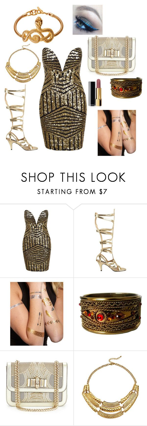 Egyptian by sam-cheema on Polyvore featuring Christian Louboutin, Slate & Willow, Printed Village and Chanel