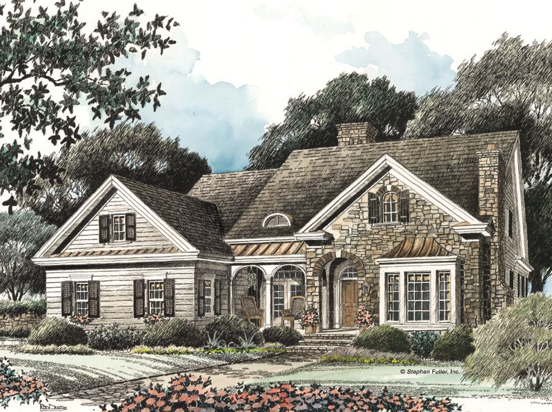 Steven Fuller Tybee Country Style House Plans French Cottage House Plans