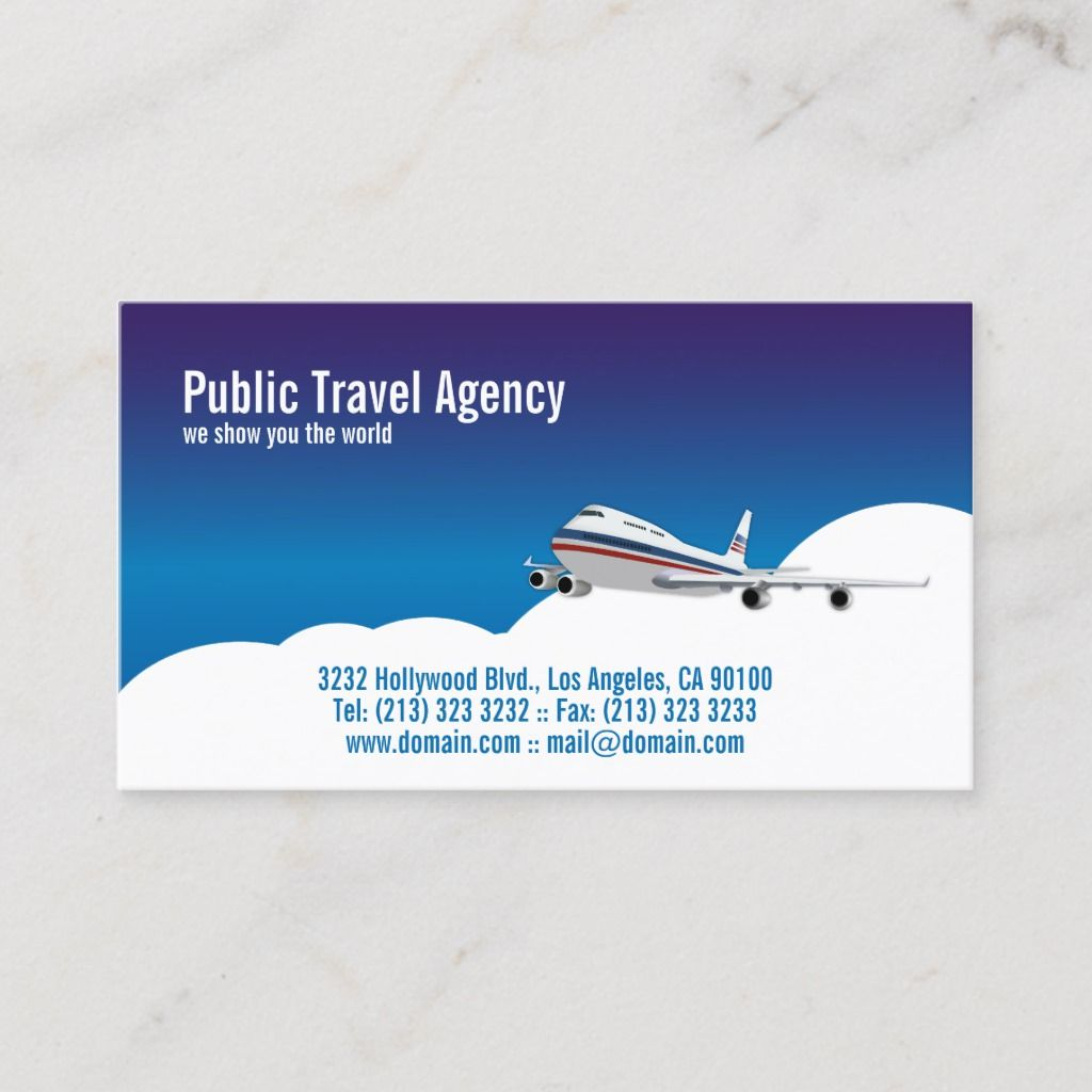 Pilot Travel Agency Tour Guide Business Card Zazzle Com Agency Business Cards Travel Agency Tour Guide