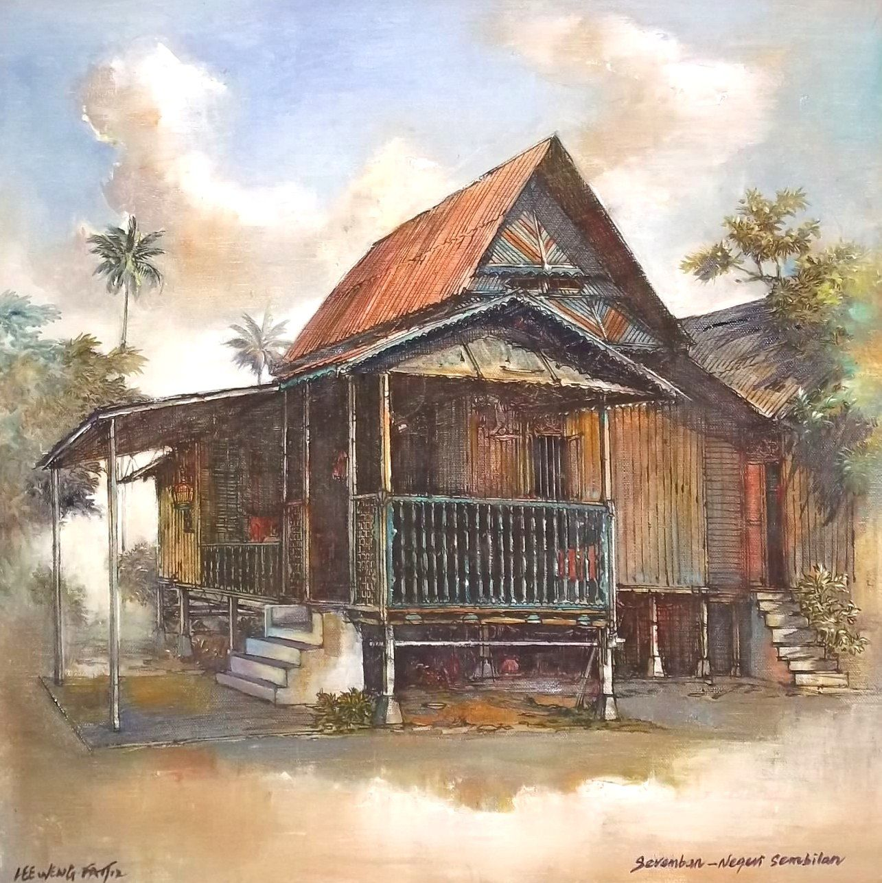 WL FRAMING & ART SDN BHD : Mix Media for Kampung House from States ...