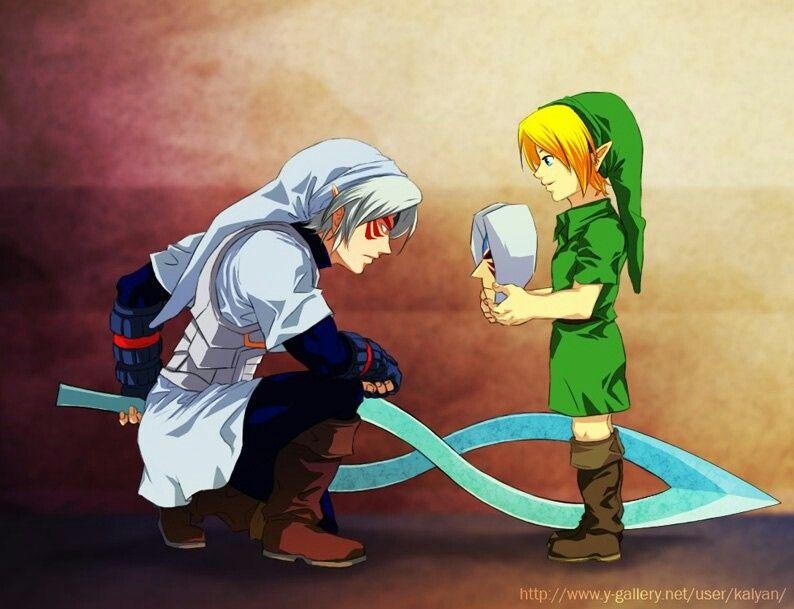 Link and Fierce Deity | Legend Of Zelda | Legend of zelda