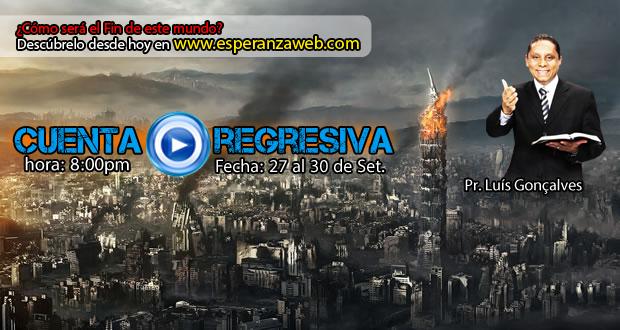 Cuenta Regresiva hoy a las 8:00pm por www.esperanzaweb.com