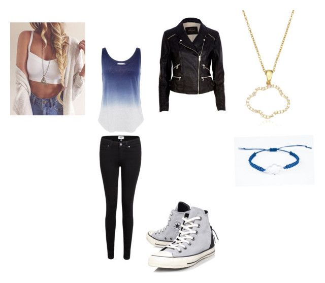 """""""Untitled #75"""" by alisha-dovey ❤ liked on Polyvore featuring Paige Denim, Velvet by Graham & Spencer, River Island, Converse and Aamaya by priyanka"""