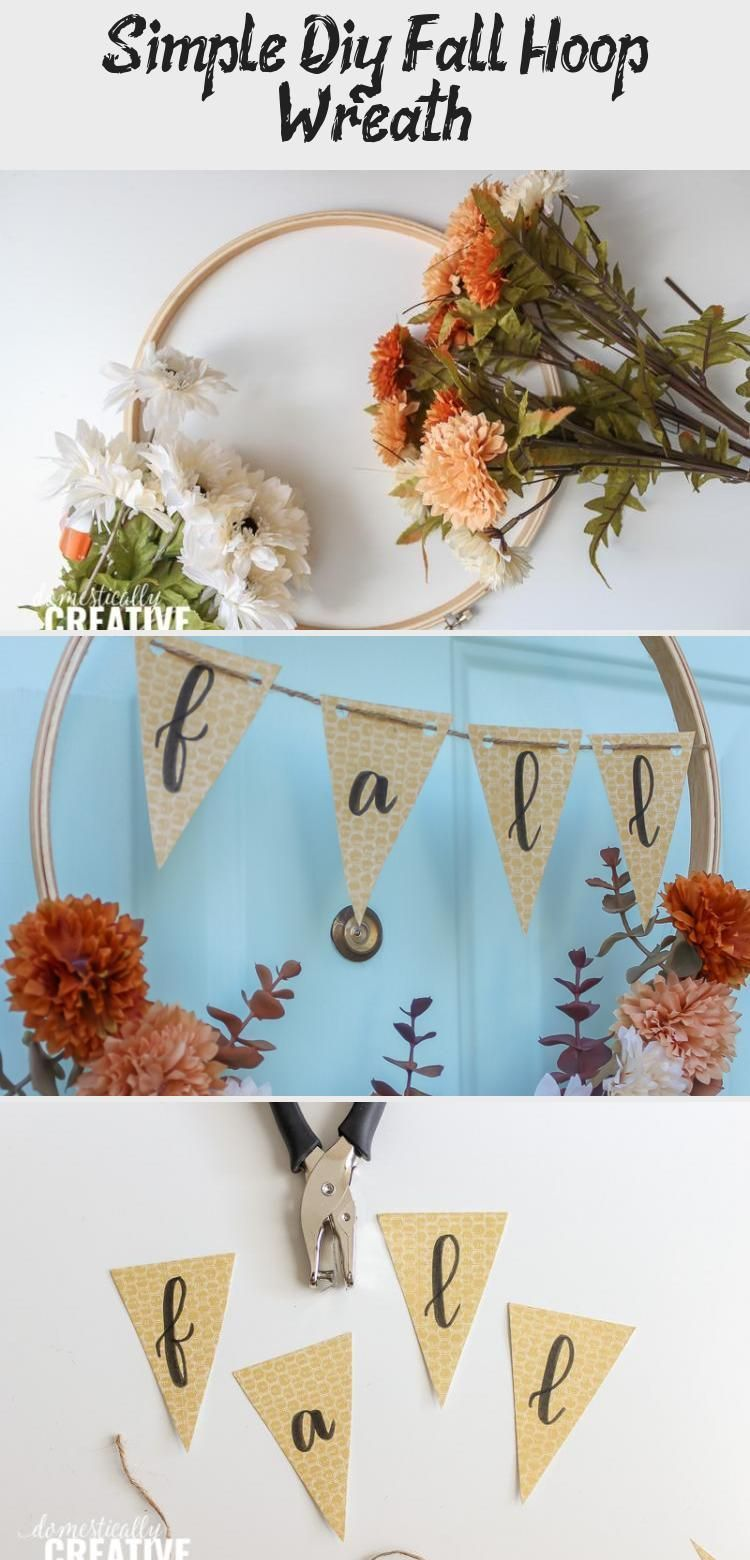 Photo of If you love the look of hoop wreaths and want to whip one up for Fall, you're in…