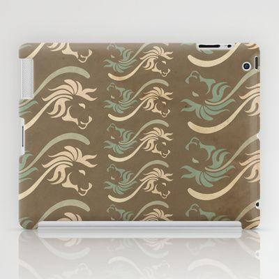 Desert Lion Flower iPad Case by VessDSign - $60.00
