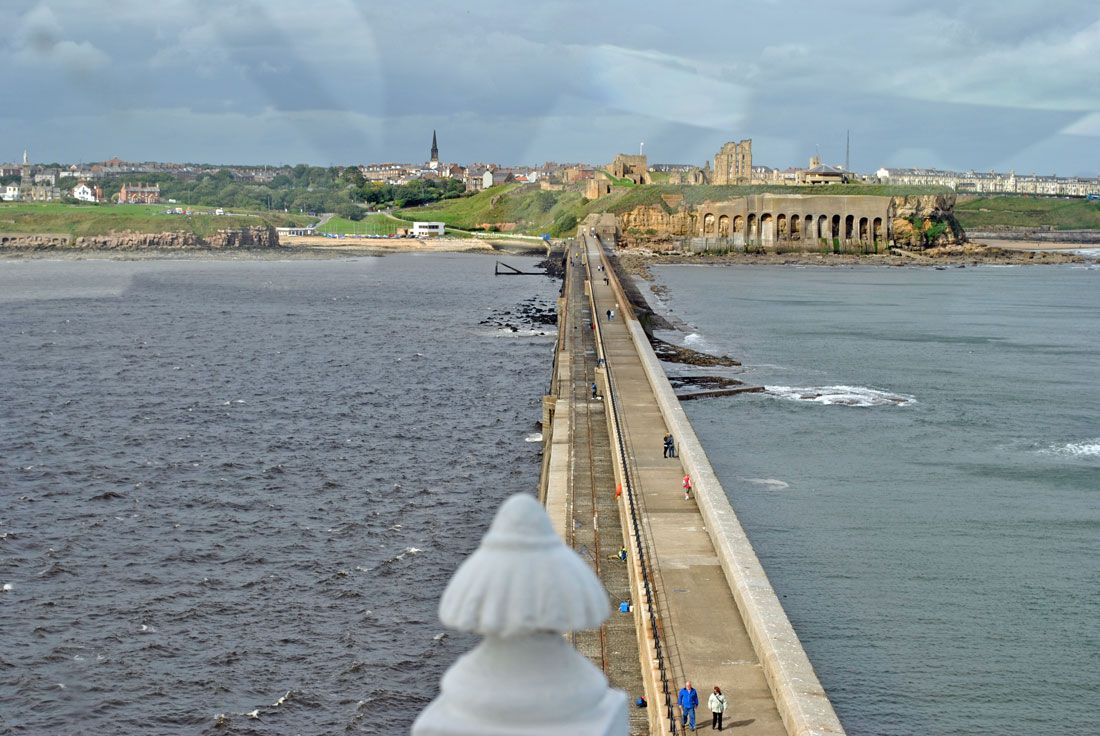 Tynemouth Pier [I walked this on a freakishly sunny day in March 2012]