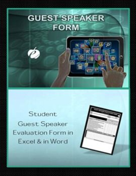Guest Speaker Form Template Excel  Word Forms For