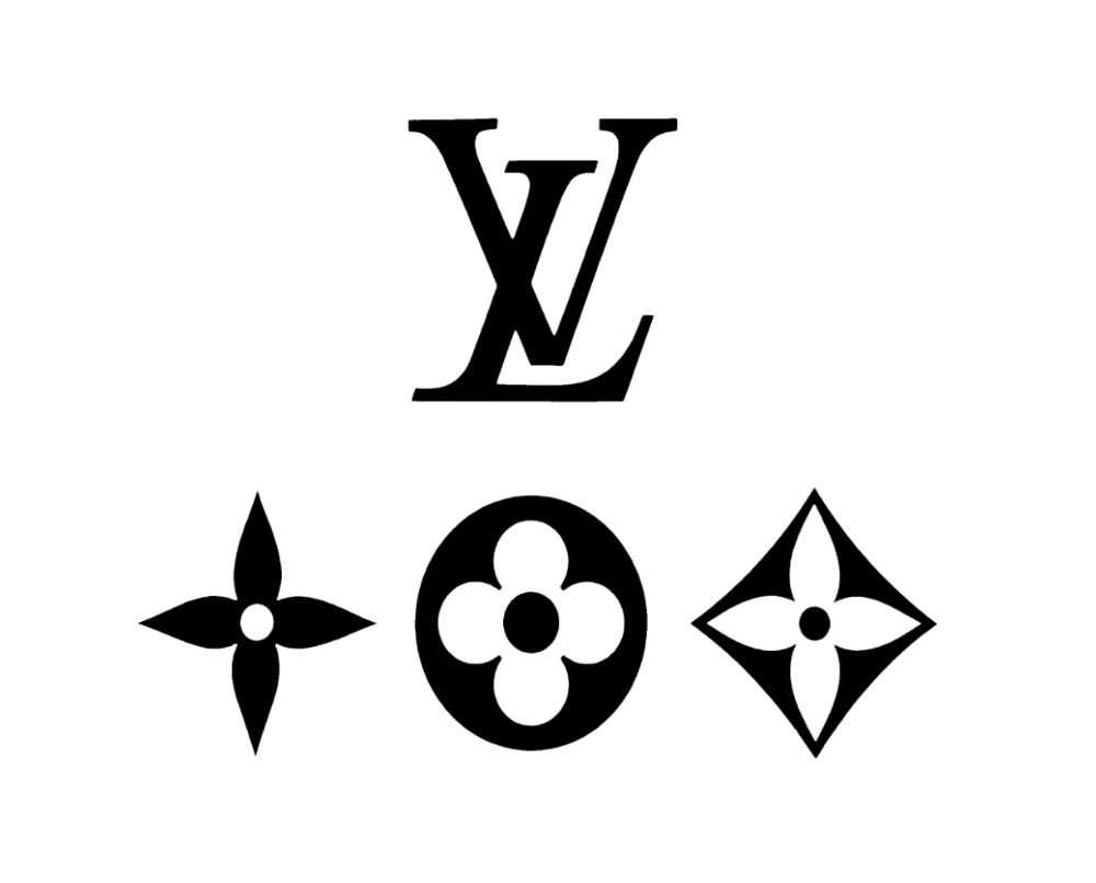 New Custom Louis Vuitton Symbol 4 Pack Sticker Decal Package Deal Ebay Louis Vuitton Pattern Cute Canvas Paintings Black Stickers