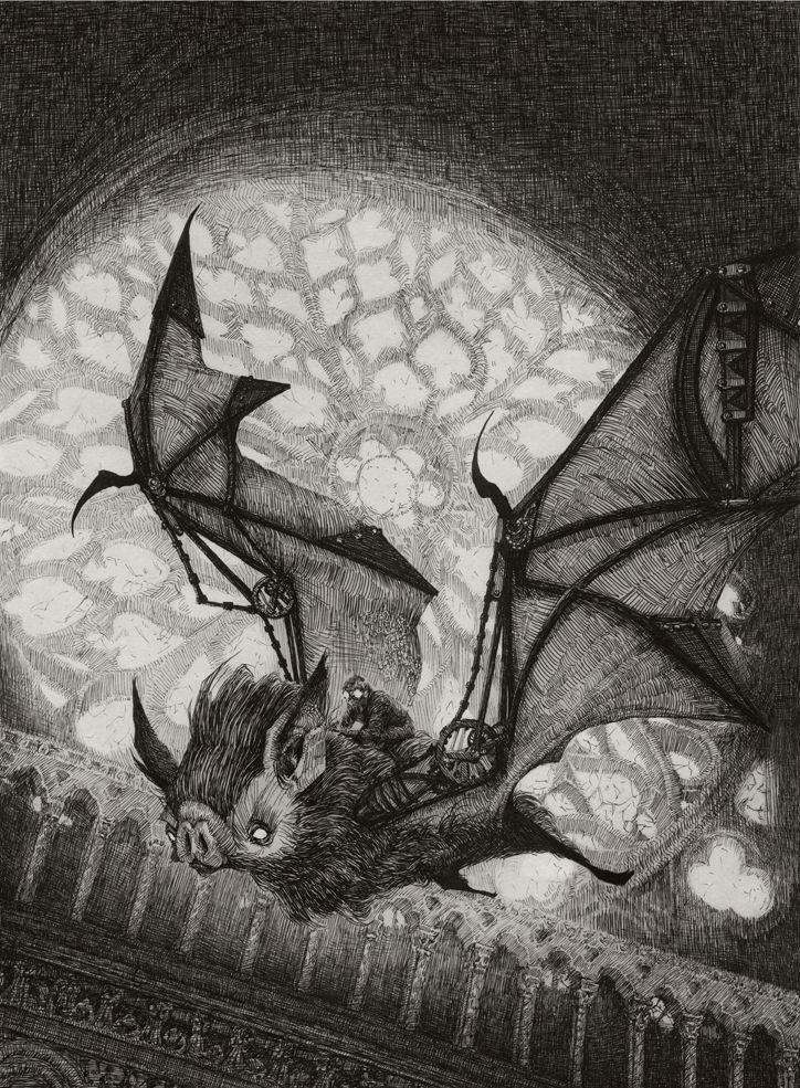 The Bat Rider by AudreyBenjaminsen.deviantart.com on @DeviantArt
