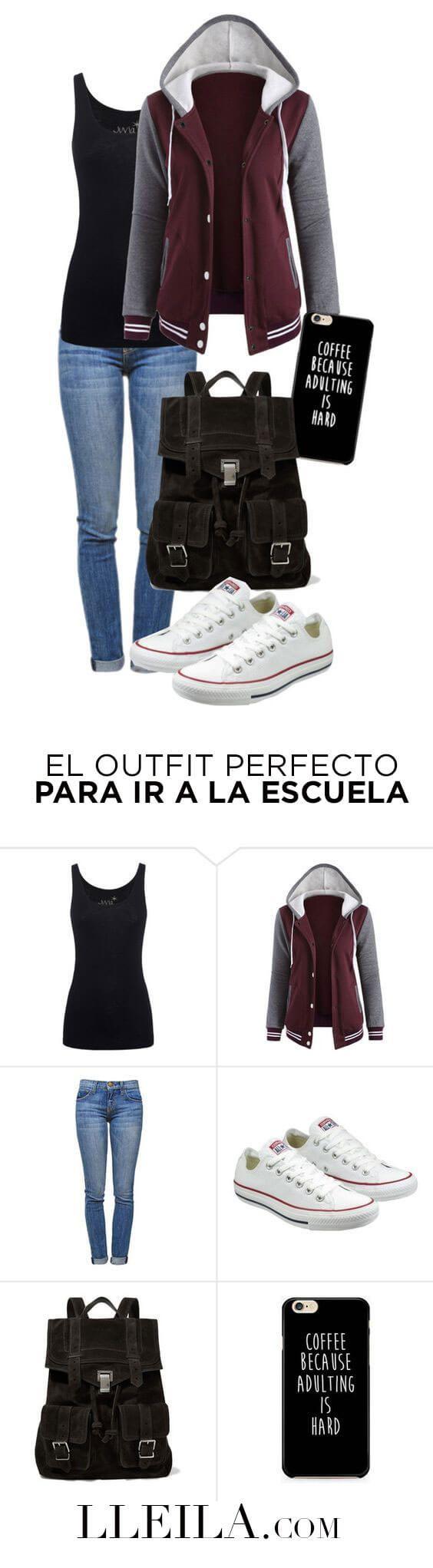 el outfit perfecto para ir a la escuela