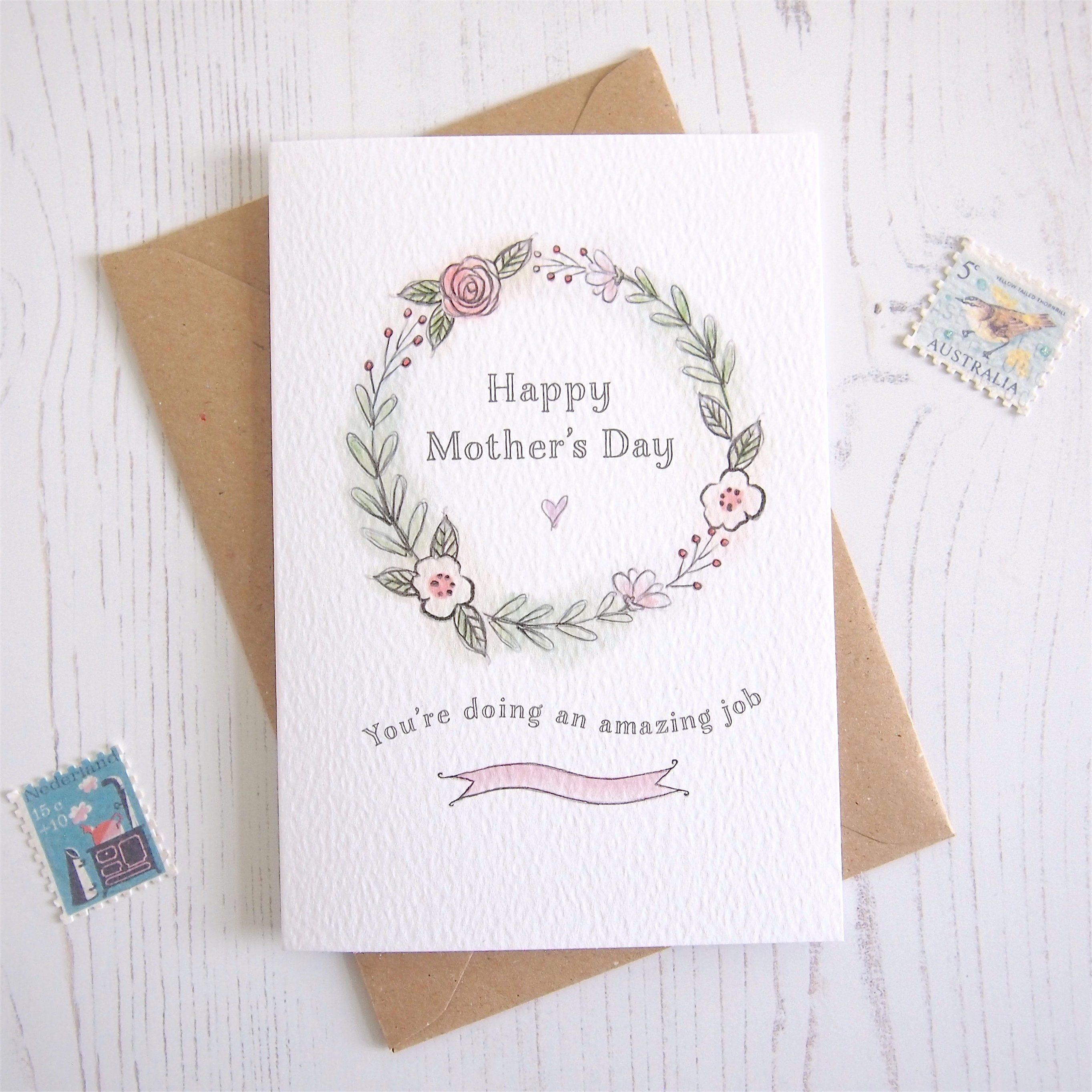 LARGER FLORAL MUM BIRTHDAY CARDS 1ST P/&P 2 DESIGNS GREETING CARD