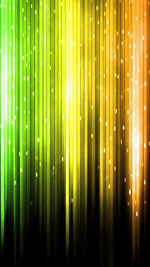 Cool Phone Wallpapers With Abstract Yellow And Green Lights
