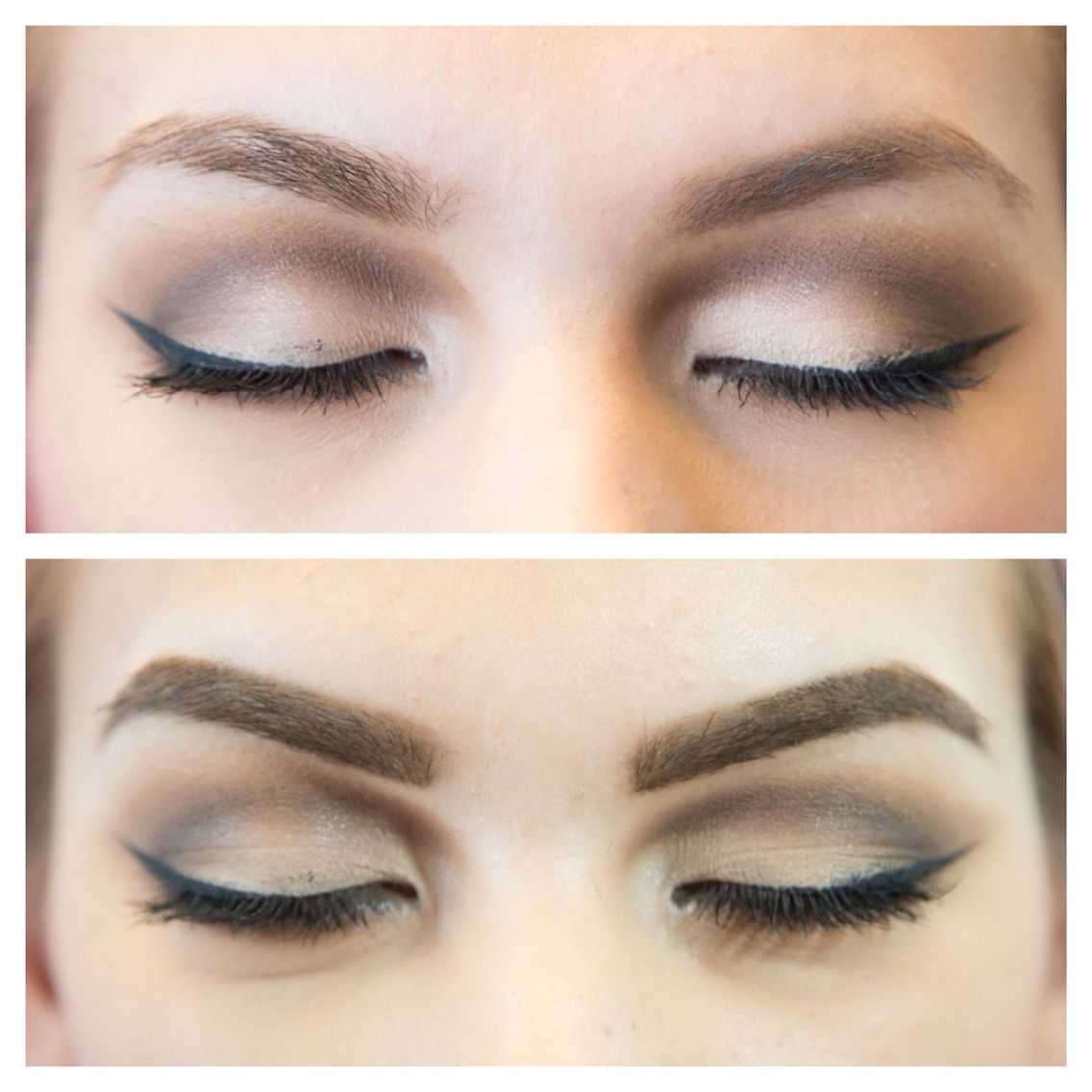 Before and after eyebrow extension. | Eyebrow extensions ...