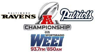Good Morning and welcome to Championship Sunday! The New England Patriots and Baltimore Ravens will square off for a trip to the Super Bowl this afternoon starting at 3 p.m.