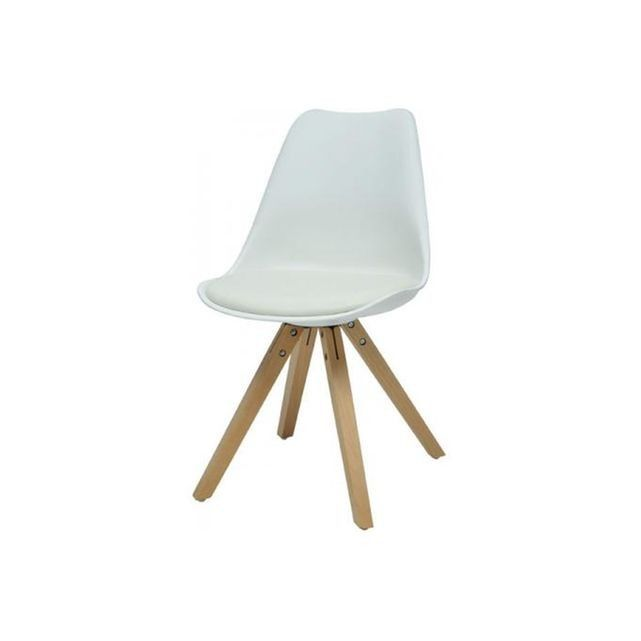 Chaise Scandinave Blanche NICOLAS