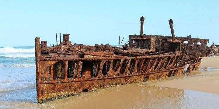 Shipwreck, Fraser Island, Queensland, Australia, Oceania