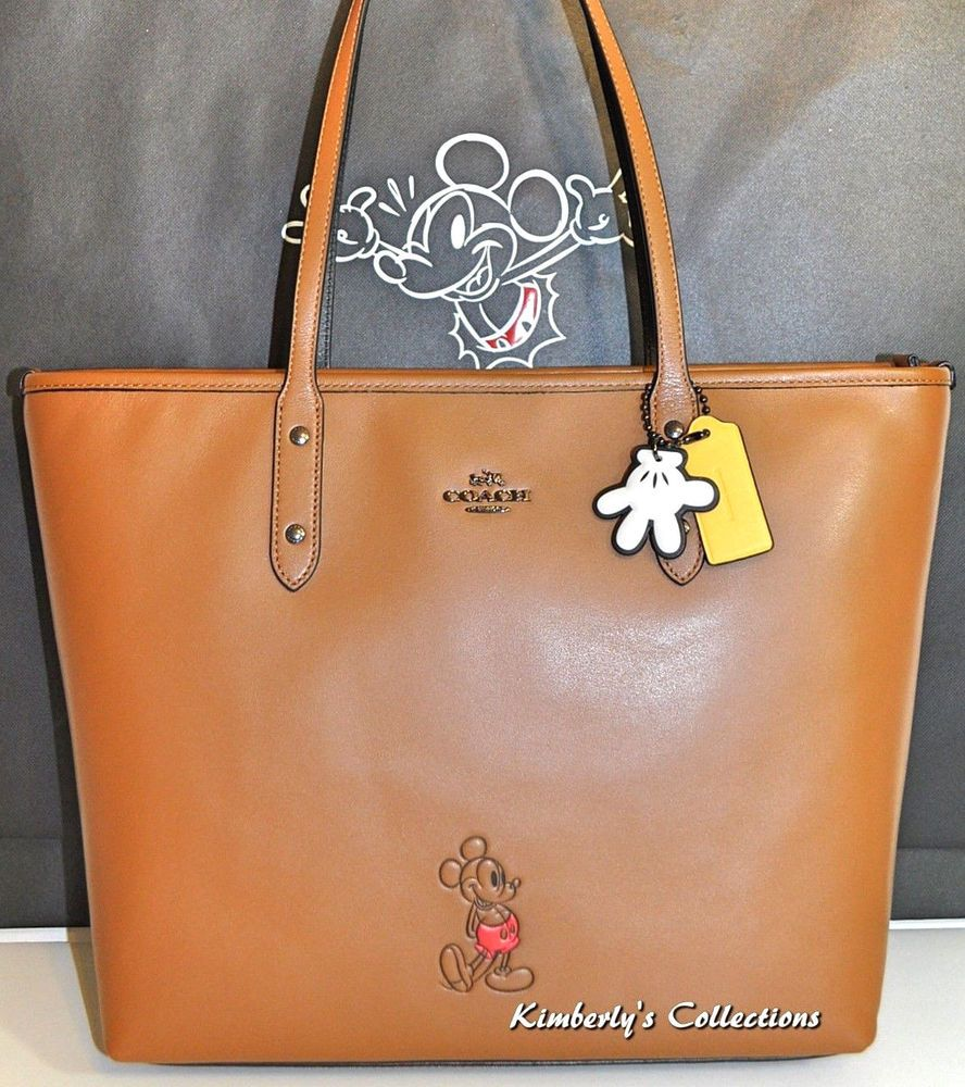 Coach X Disney Limited Edition Mickey Mouse Leather Tote Bag Purse W Charms Nwt 889532588053 Ebay Purses And Handbags Mickey Mouse Purse Leather Tote Bag