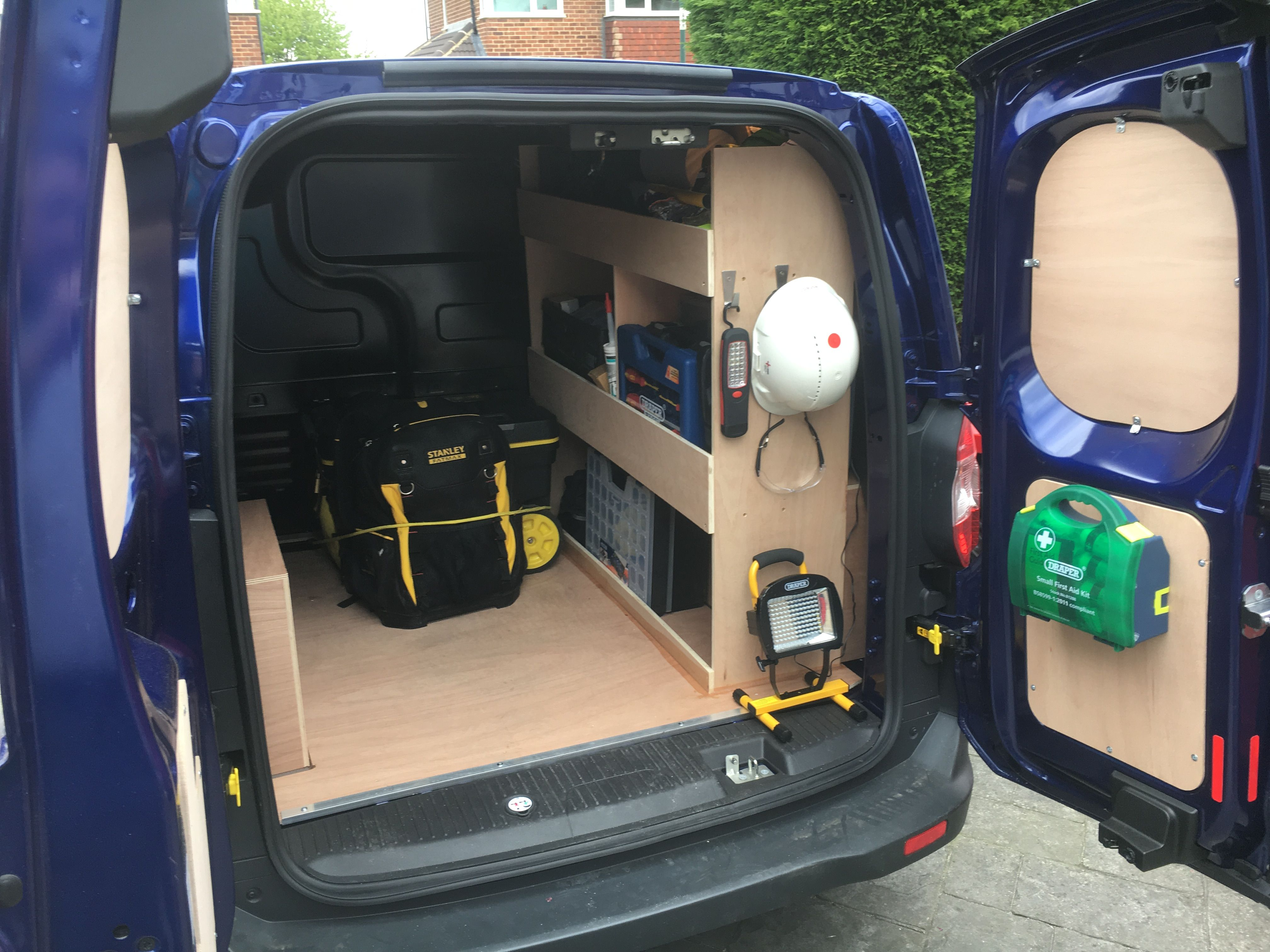 Ply Lined Ford Transit Courier Work Truck Storage Van Storage Ford Courier