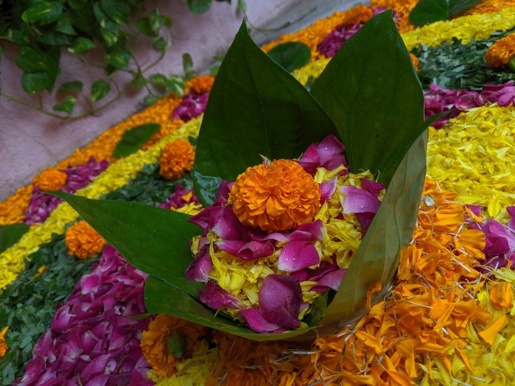Flowers Rangoli 2019 Festival lights, Flowers, Diwali