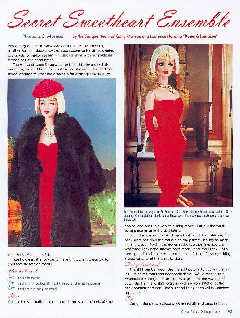 Barbie Bazaar Secret Sweetheart Ensemble for Barbie Dolls | free ...