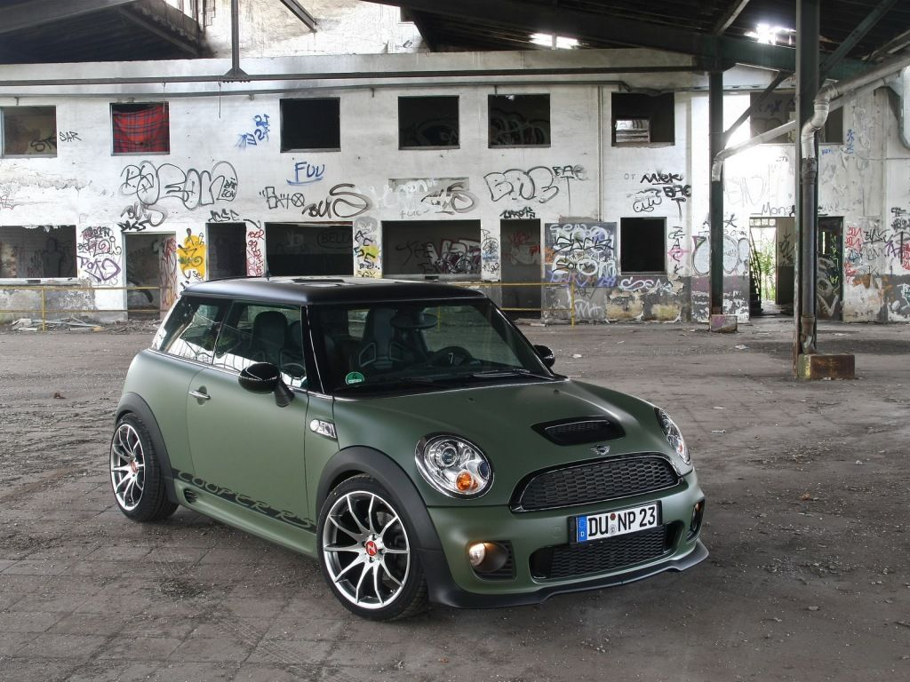 Mini cooper jcw love the matte sage green body but i hear it s very