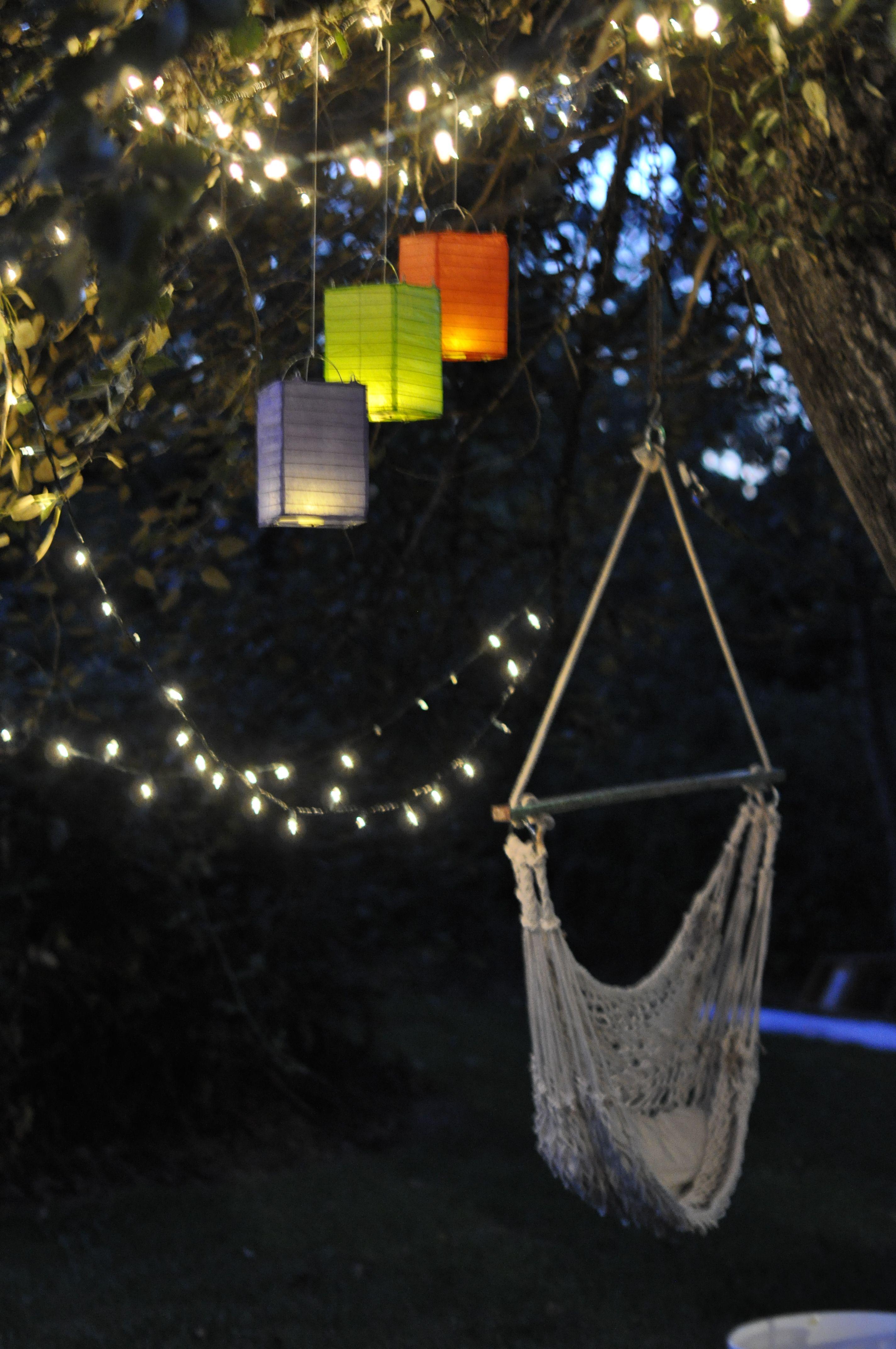 backyard party lighting pretty celebration pinterest the