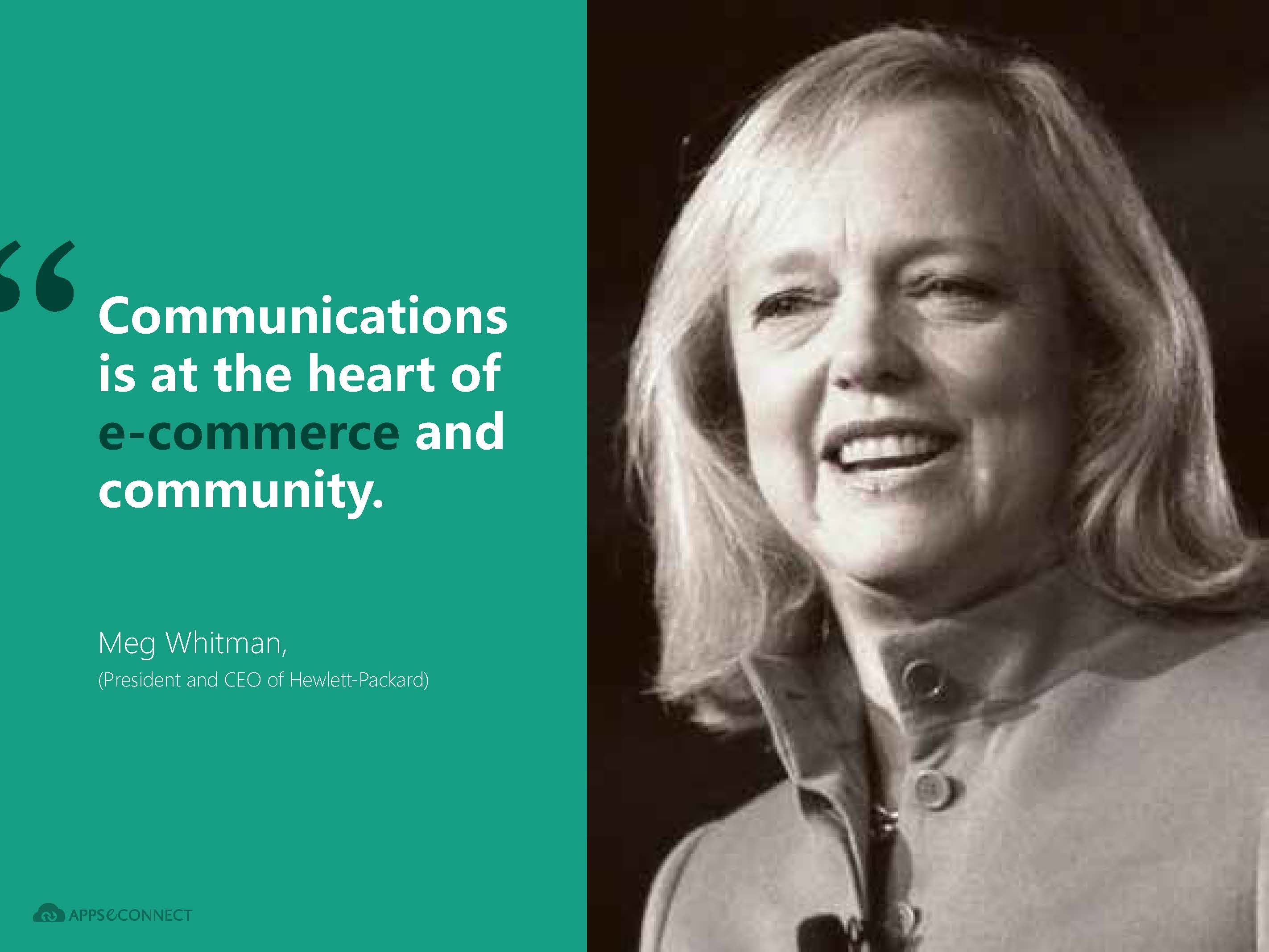 Quotes from megwhitman president and ceo hp