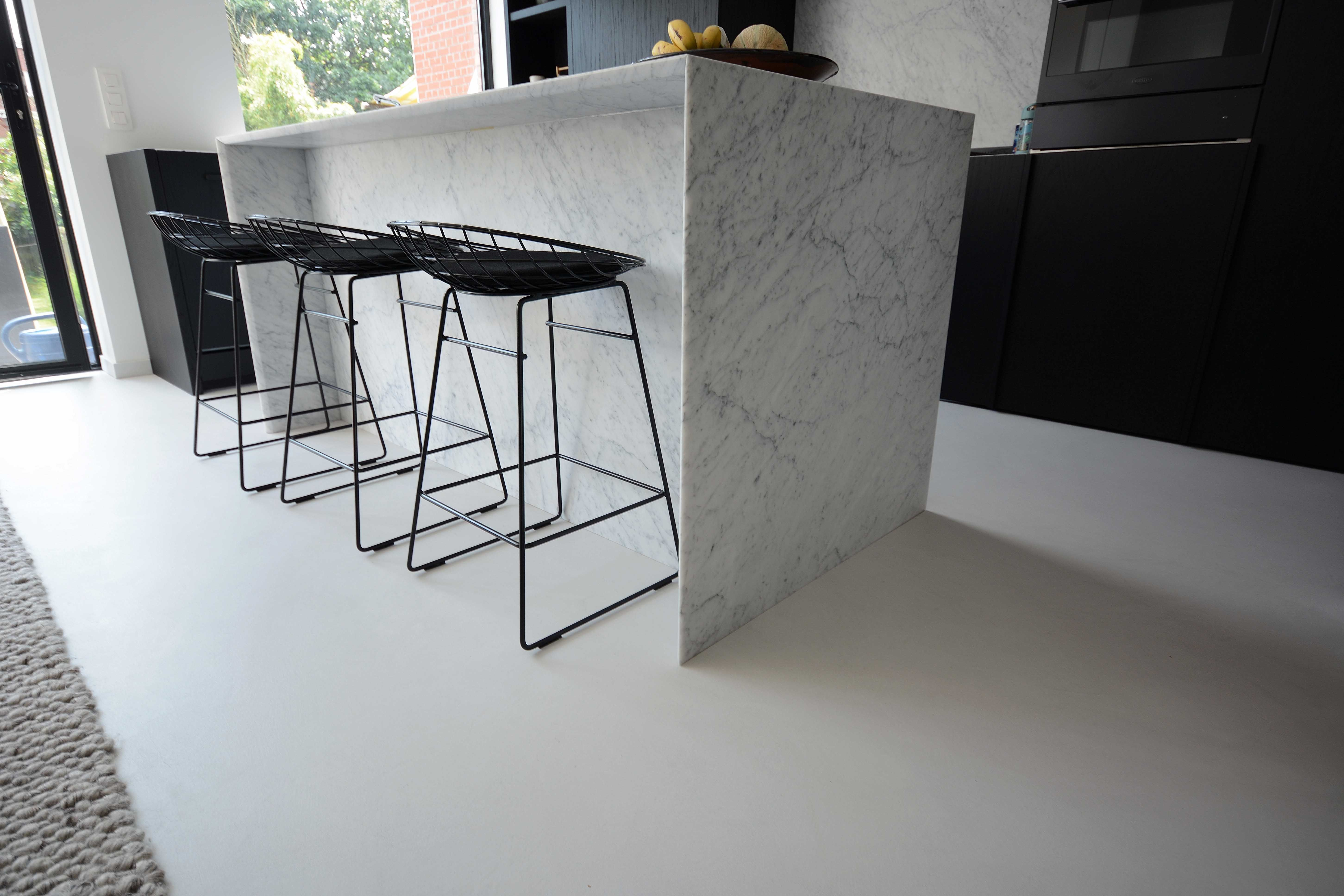 Stoopen meeûs stuc deco floor belgian tadelakt flemish beton