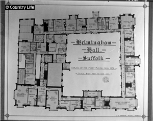 Helmingham Hall Country Life Picture Library Manor House Interior Floor Plans English Country House