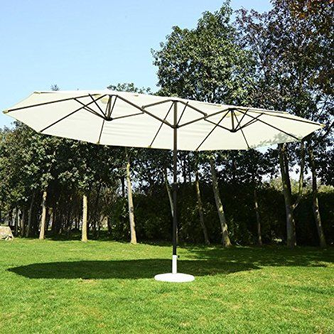 Outsunny 4.6M Patio Double Sun Umbrella Garden Parasol. Sunny Days Are  Great, But Sometimes You Just Need A Little Shade. Other Times You Need To  Beat The ...