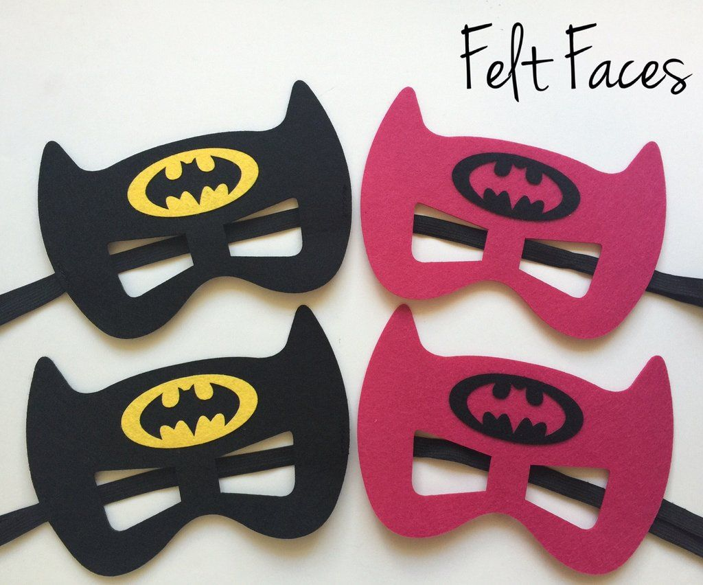 Batman & Batgirl Party Masks, Batman & Batgirl Party Favors | Mottos ...