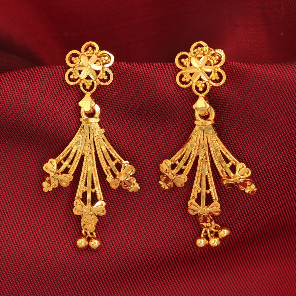 Traditional Gold Plated Floral Indian Jhumka Jhumki Bollywood ...