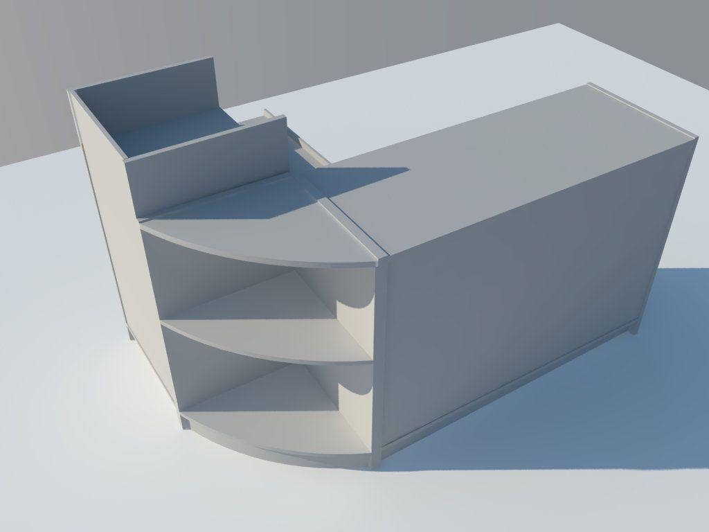 Conjunto de mostrador con punto para ordenador 2000 x 550 - Mostradores de diseno ...