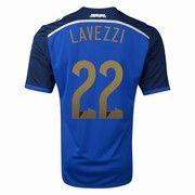 2014 World Cup Argentina Ezequiel Lavezzi 22 Away Jersey