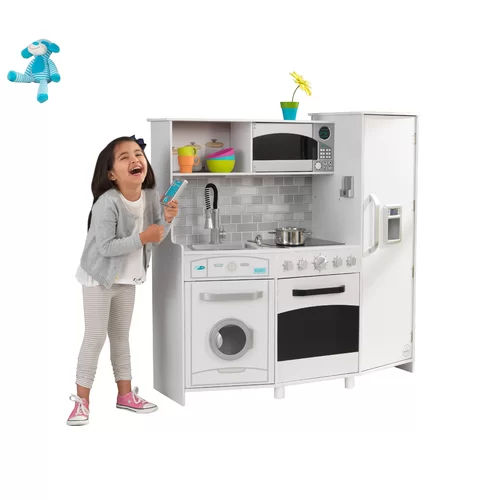 Large Play Kitchen Set Wooden play kitchen, Play kitchen