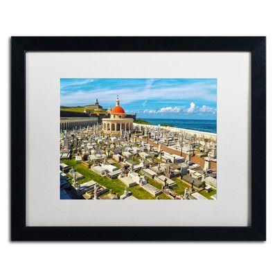 "Trademark Art ""Cementario de Santa Maria"" by CATeyes Framed Photographic Print Size: 1"