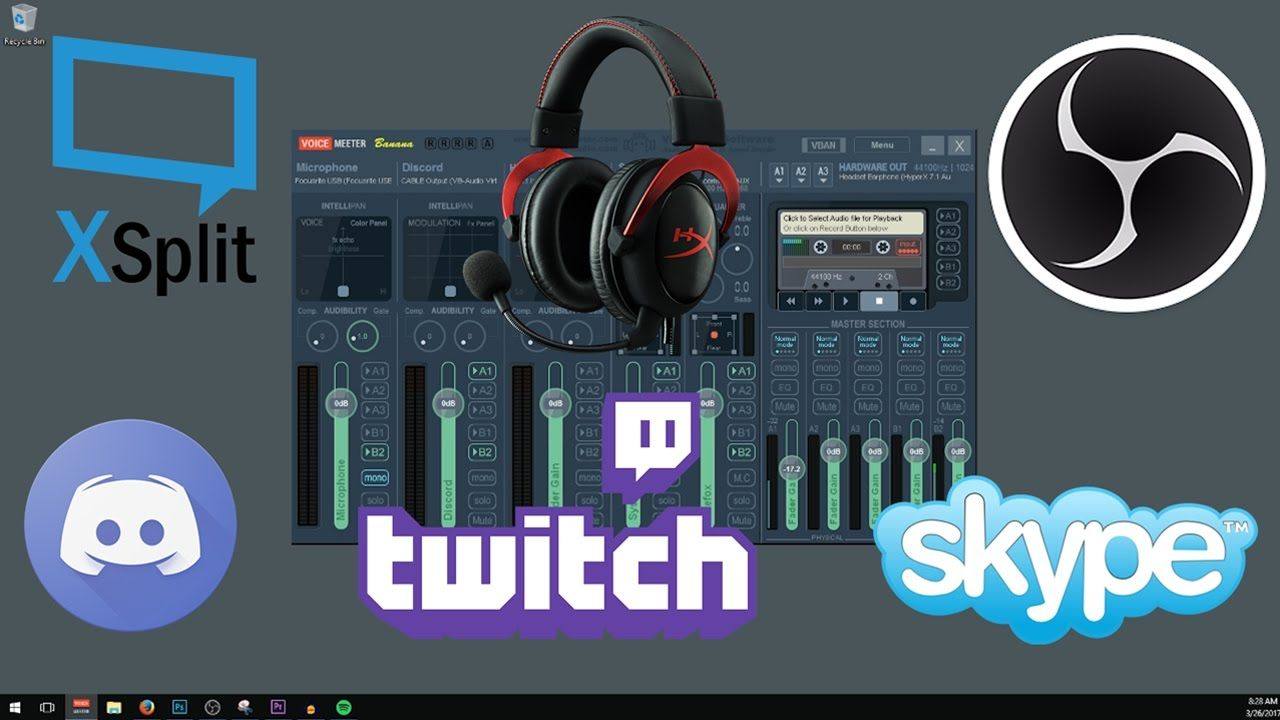 How to Setup VoiceMeeter Banana for OBS or XSplit & Streaming to