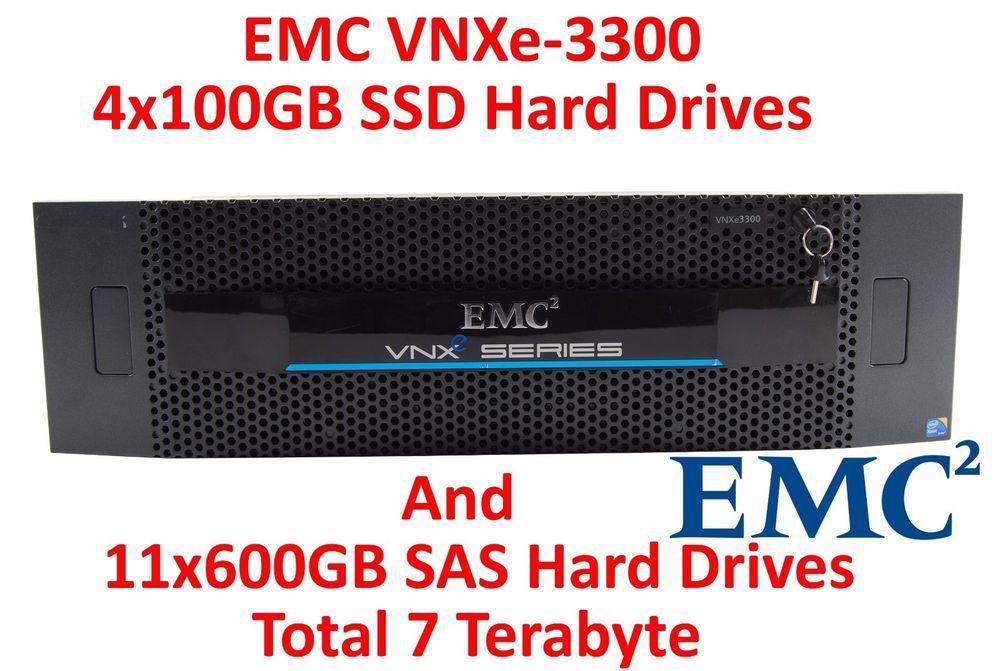 Emc Vnxe 3300 4x 100gb Ssd Disk And 11x 600gb Sas Hdd Vnxe3300 Disk Expansion Ssd Sas Terabyte