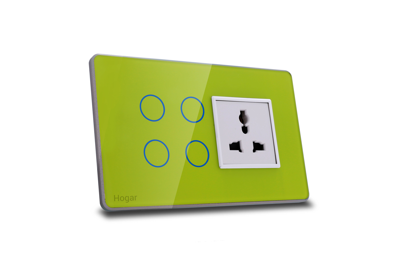 Hogar controls designer smart touch switch panels zwave
