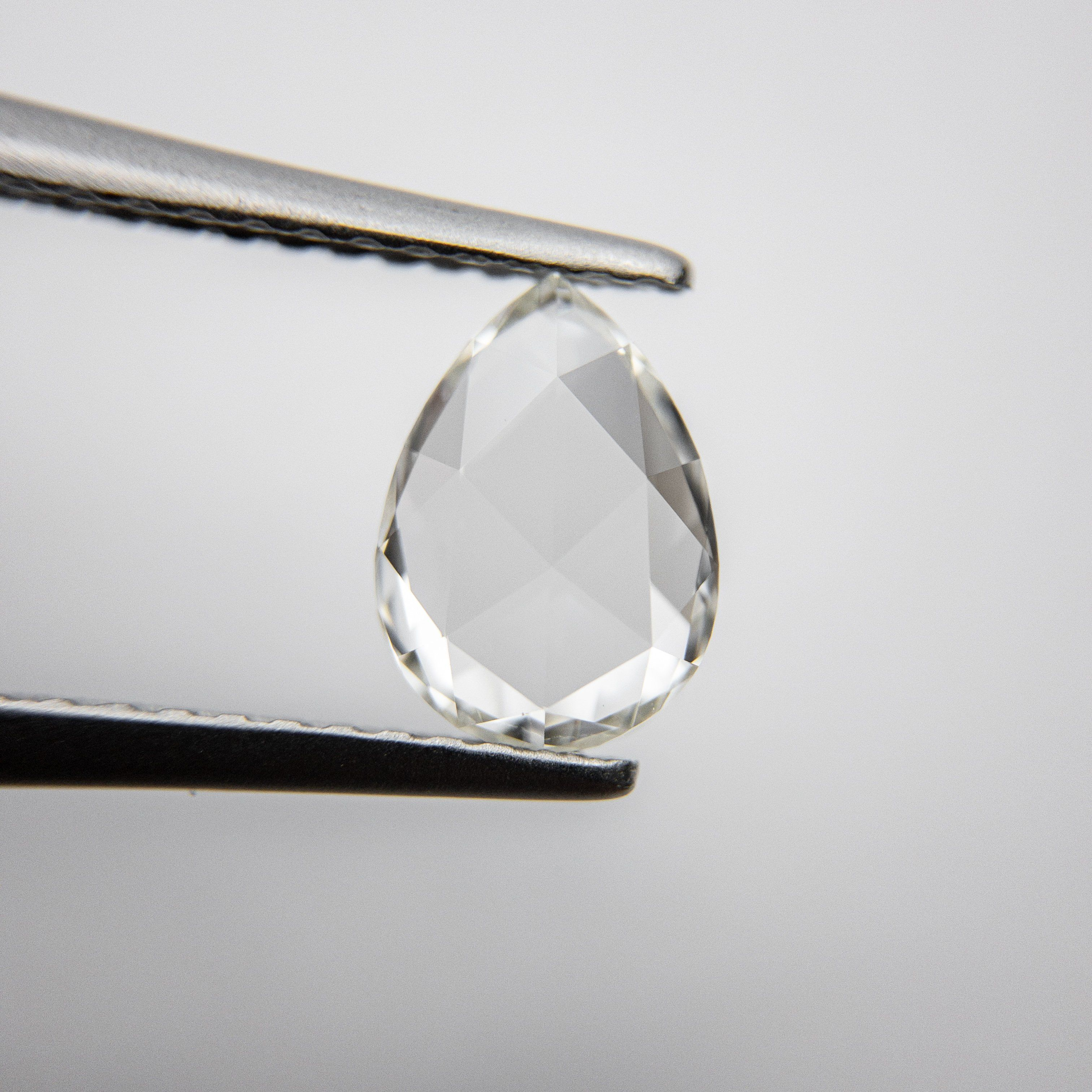 Natural Diamond White Pear Rosecut Download pictures and videos