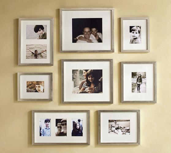 Gallery In A Box Champagne Finish Frames Pottery Barn