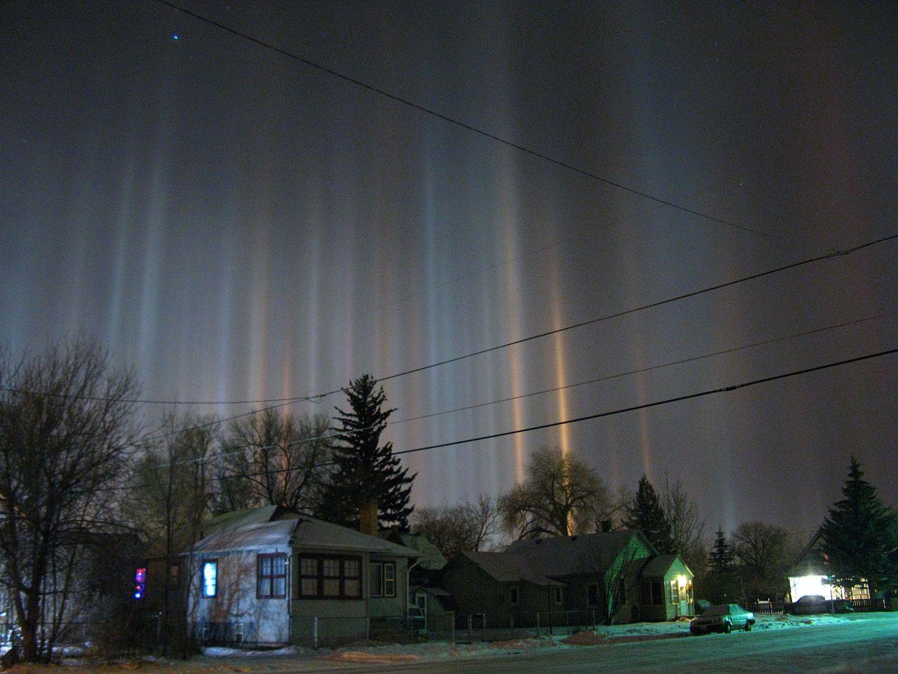 Night light wikipedia - Light Pillars Over Laramie Wyoming In Winter Night Light Pillar Wikipedia