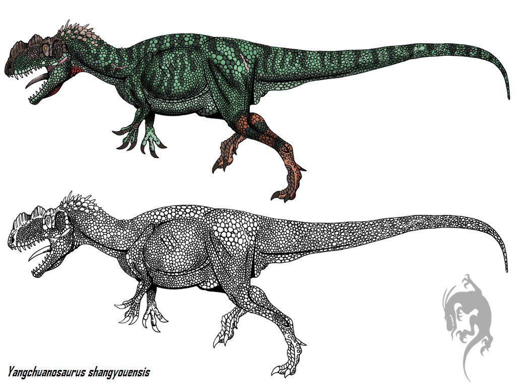 Yangchuanosaurus by iguana-teteia