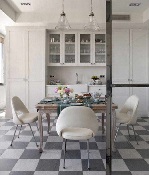Inspirations Sol Damier Damier Carrelage Et Blog Deco - Carrelage cuisine damier pour idees de deco de cuisine