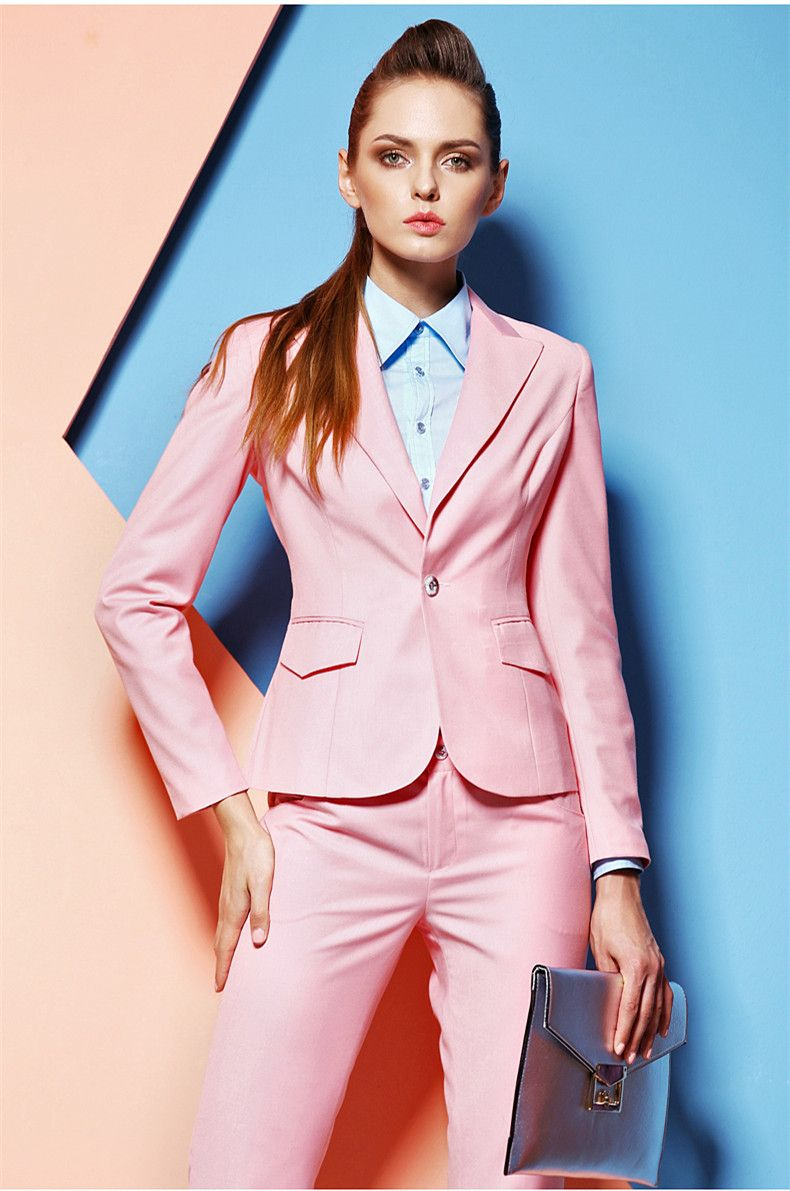 Hot Pink Pant Suits for Women Custom made Ladies Business Suits ...