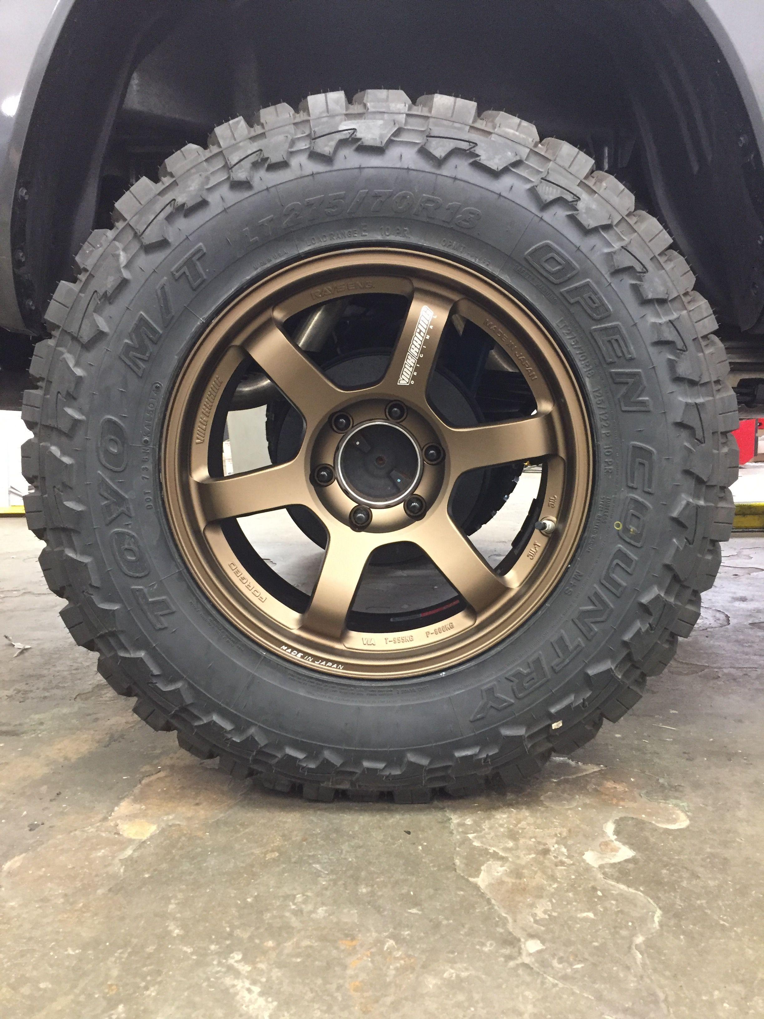 Volk Racing TE37, Bronze 18x9 for off road. Jeep wheels